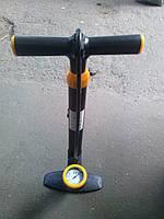 Насос ручной с манометром велосипедный.