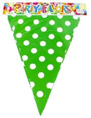 """Флажки вымпелы """"Горох зелёный"""". Длина: 2,5 метра."""