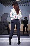 """Лосіни жіночі на флісі чорні """"Циля"""" арт.5519, фото 3"""