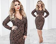 Шерстяное платье женское коричневое (2 цвета) ТК/-02066
