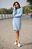 Удобное и стильное платье машинной вязкой