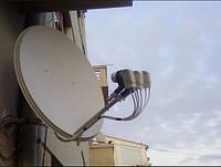 Установка спутниковой антенны на 2 тв