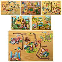 Деревянная игрушка Лабиринт MD 0967 6 видов