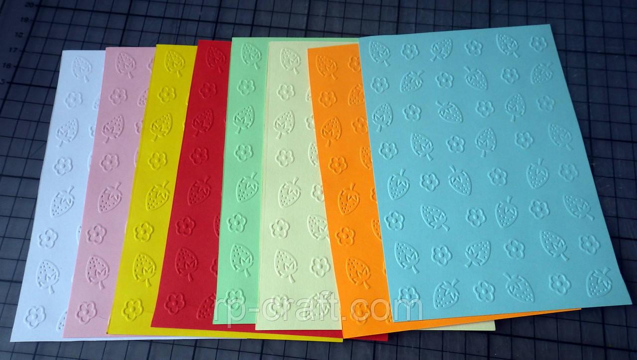 Тиснение на бумаге и картоне. Клубника. 105х150 мм