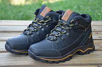Детские кожаные зимние ботинки Columbia АND 122-2 чер