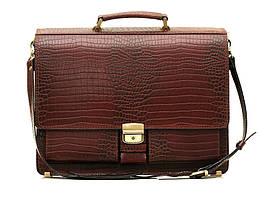 Мужской кожаный портфель Manufatto ПАВ-25 коричневая