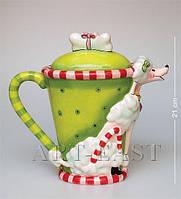 """Заварочный чайник (Pavone) """"Собачка Пудель"""" CMS-03/12. Символ 2018 года"""