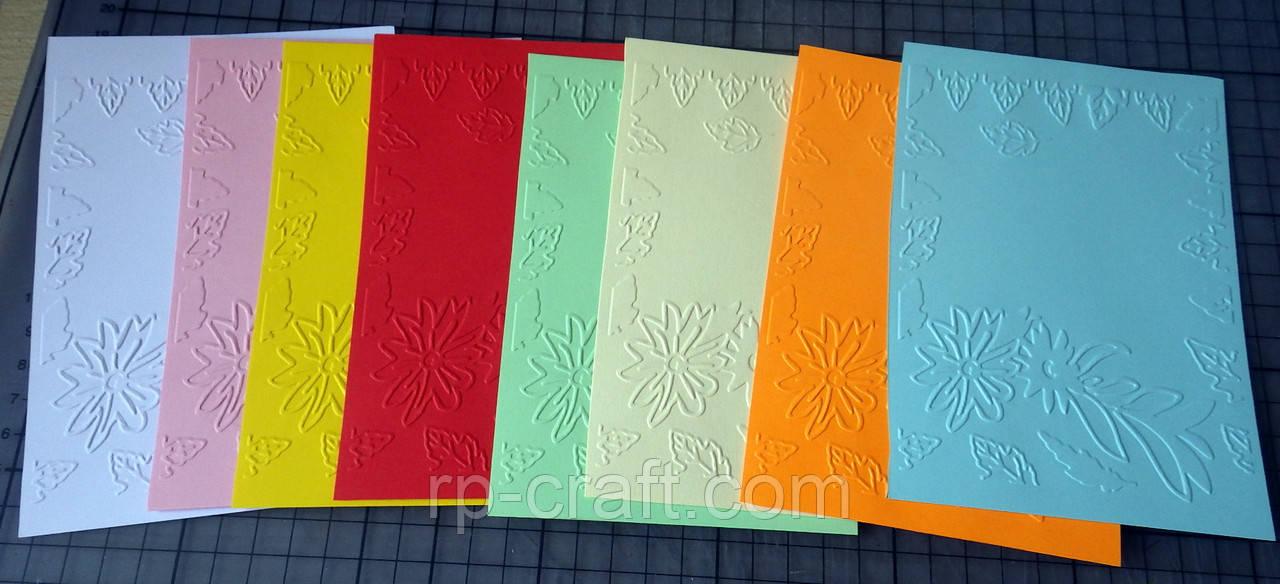 Тиснение на бумаге и картоне. Осенняя композиция. 105х150  мм