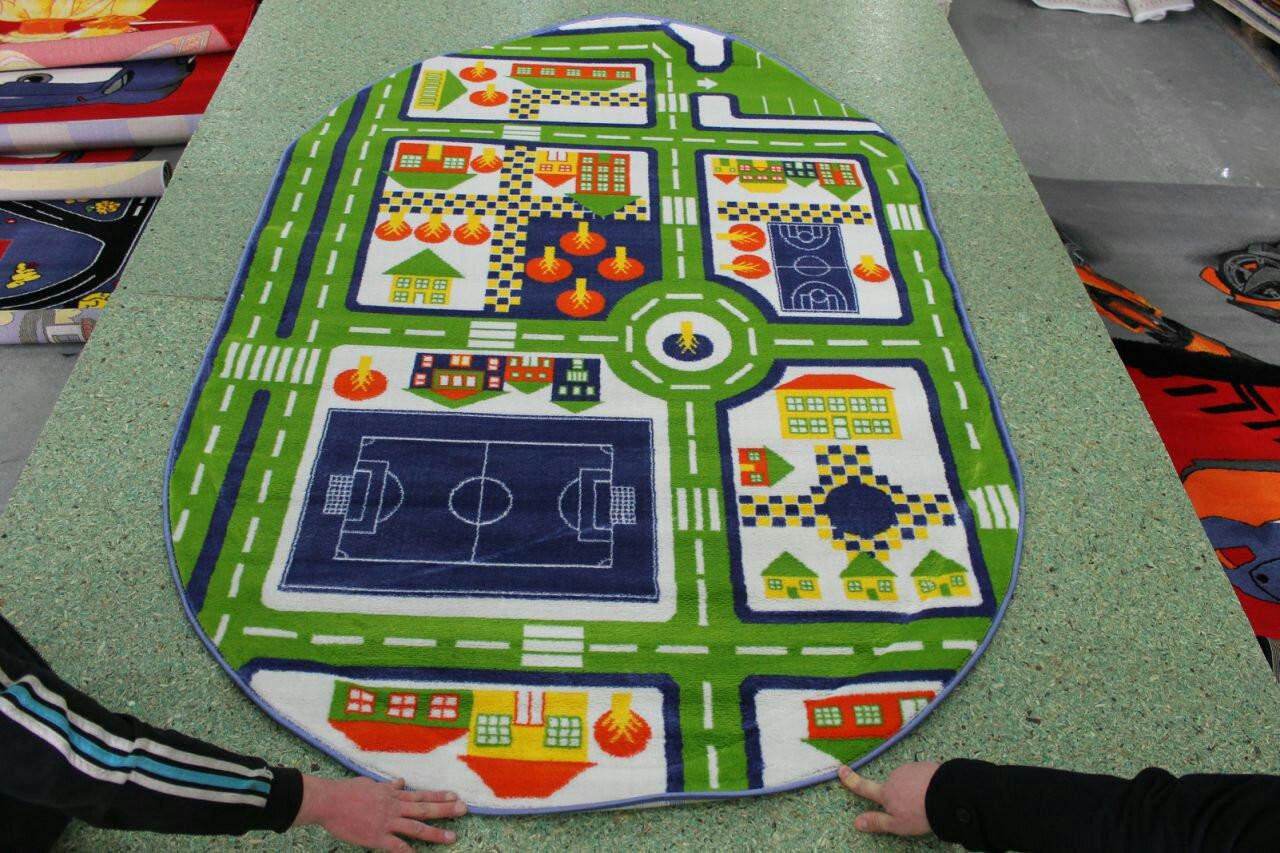 Ковер детский Kids Albayrak дорога 3 green - Estetshop в Киеве