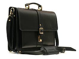 Мужской кожаный портфель Manufatto РП-10 черный