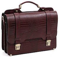 Мужской кожаный портфель Manufatto СПС-3 коричневый