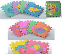 Коврик-мозаика для деток , разные виды фрукты животные