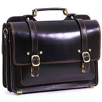 Мужской кожаный портфель Manufatto СПС-4 черный