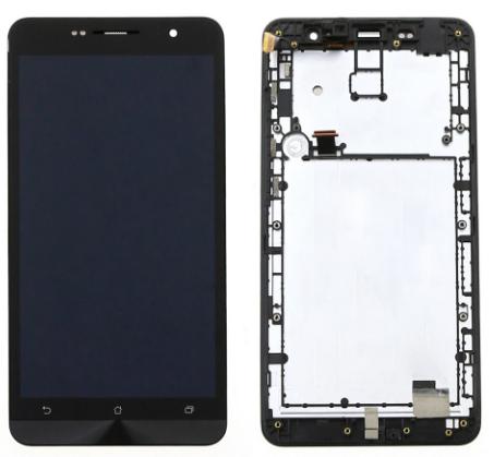 Дисплей (экран) для Asus ZenFone 6 (A601CG) с сенсором (тачскрином) и рамкой черный, фото 2