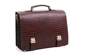 Мужской кожаный портфель Manufatto ТМ-1 коричневый