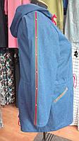 Куртка джинсовая с капюшоном на кулисках