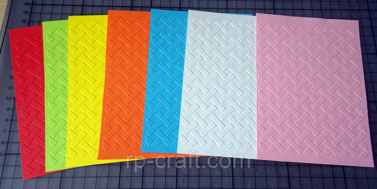 Тиснение на бумаге и картоне. Плетенка. 105х150