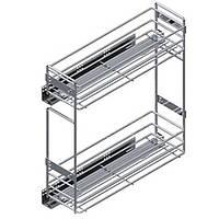 Starax карго для кухні для корпусу 150мм, плавне закривання, направляючі Blum часткового висуву, праве