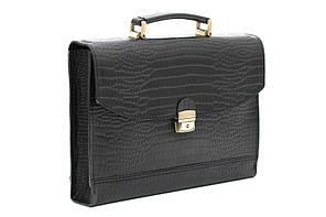Мужской кожаный портфель-папка Manufatto С-1 черная