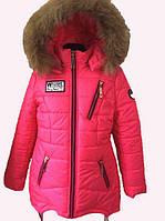 Куртка детская зимняя на девочку на флисовой подкладке Размер 44