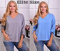 Женская блуза батал свободного кроя в расцветках 615158