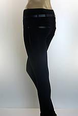 Жіночі чорні трикотажні  штани з лампасами, фото 3