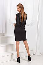 ДР1532 Платье облегающее черное, фото 2