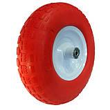 Ненадувное колесо 4.00-6 для тачки, пена (Стройка) + Универсальная Ось, фото 2