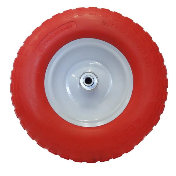 Ненадувное колесо 4.00-6 для тачки, пена (Стройка) + Универсальная Ось