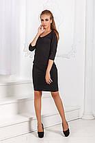 ДР1532 Платье облегающее черное, фото 3