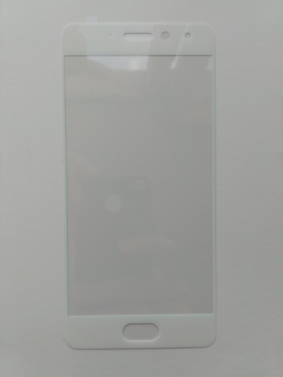 Защитное стекло для Meizu Pro 7 с белой рамкой