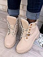Женские ботинки на флисе