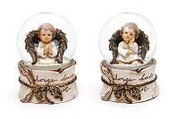 """Водяной/снежный шар """"Ангел"""" (9 см) 2 вида (6 шт. в упаковке)"""