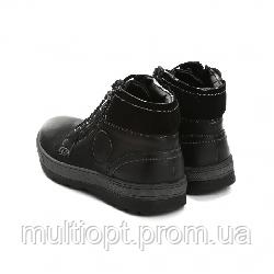 Ботинки мужские кожаные 41-46 чёрные