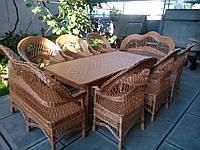"6 кресел и 2 дивана ""Капля"" + стол 2х1 м."