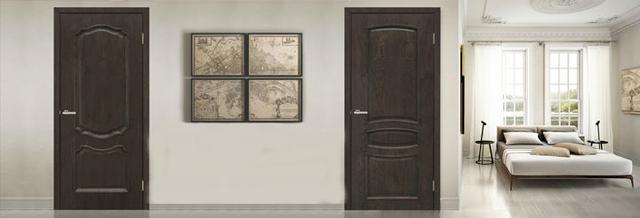 Двери межкомнатные натуральный шпон