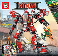 Конструктор серии Ninja Movie SY926 Огненный робот (аналог Lego Ninjago 70615)
