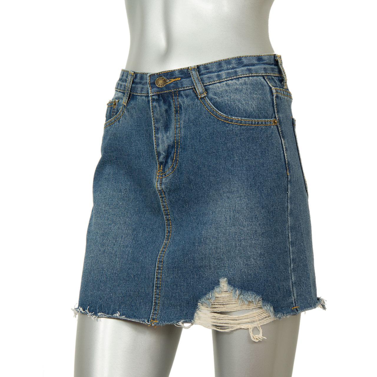 Короткая джинсовая юбка J@T