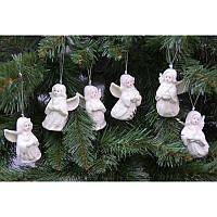 """Новогодние украшения из керамики """"Ангелочек"""" 6 шт в упаковке"""