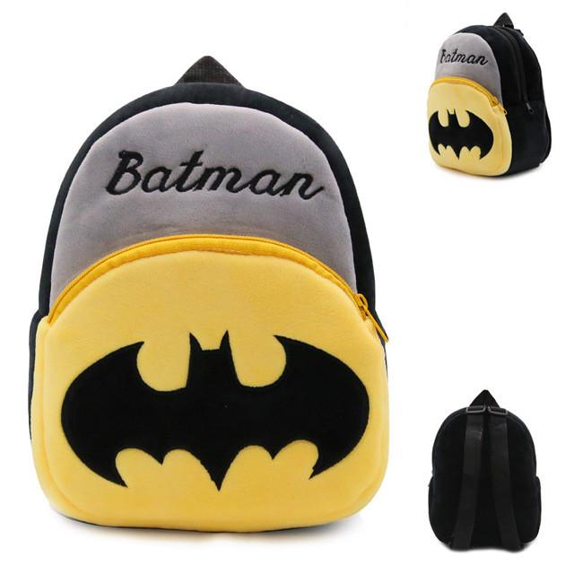 Мягкий рюкзак плюшевый для малышей Бэтмен, Batman. Детский рюкзачок для мальчика 1-5 лет