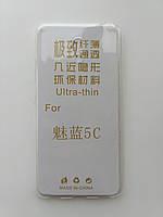 Силиконовый чехол для Meizu M5c ультратонкий прозрачный