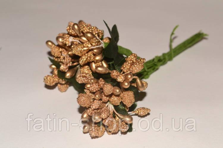 Тычинки цветочек. цв.Темное золото