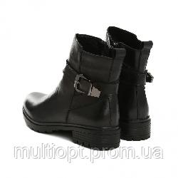 Ботинки женские кожаные 36-41 чёрные