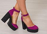 Женские босоножки на высоком устойчивом каблуке ТМ Bona Mente , фото 2