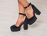 Женские босоножки на высоком устойчивом каблуке ТМ Bona Mente , фото 3