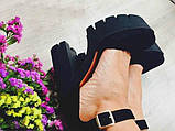 Женские босоножки на высоком устойчивом каблуке ТМ Bona Mente , фото 6