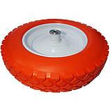 Ненадувное колесо 3.50-8 для тачки, пена (Стройка) + Универсальная Ось, фото 2