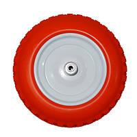 Ненадувное колесо 3.50-8 для тачки, пена (Стройка) + Универсальная Ось
