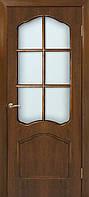 Двери межкомнатные со стеклом шпон Каролина орех