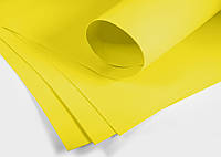 Фоамиран ФОМ желтый 21 см * 30 см, толщина 1 мм (50 листов)